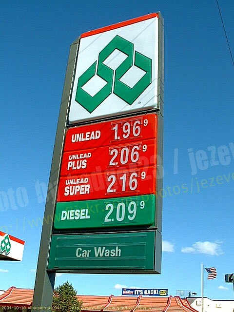 Gas Prices In 2004 At The Diamond Shamrock 2004 10 18 Albu Flickr