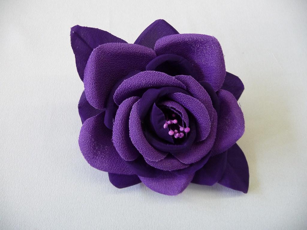 Mparr000207 flores lazos y tocados de tela hechos a mano - Flores de telas hechas a mano ...