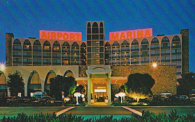 Airport Marina Hotel Burlingame Ca Back Of Postcard