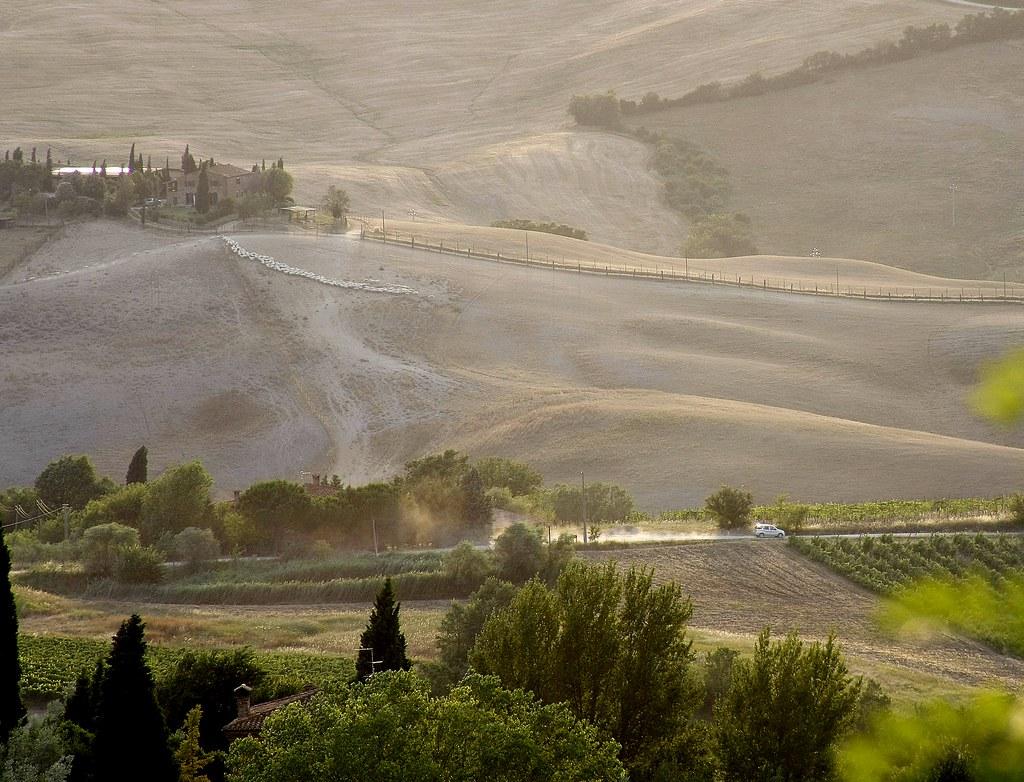Un coin de Toscane au soleil couchant