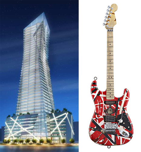 Daniel libeskind building van halen guitar i can only co