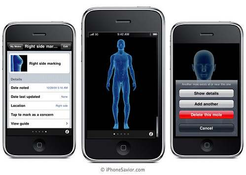 Body Mole Mapping iPhone App | by Photo Giddy