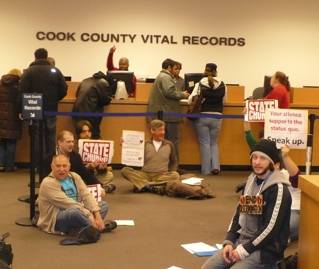 Sit-in At Cook County Vital Records