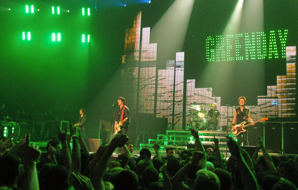 Green Day Concert Kid Plays Guitar