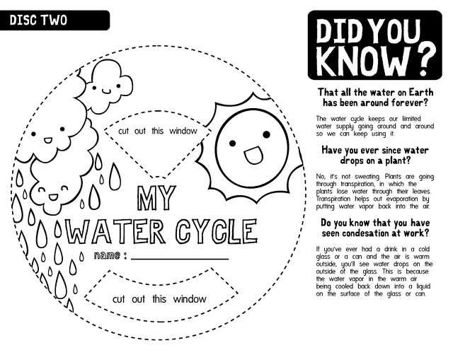 Water Cycle Worksheet B/W 2 | La la la. This version is befo ...