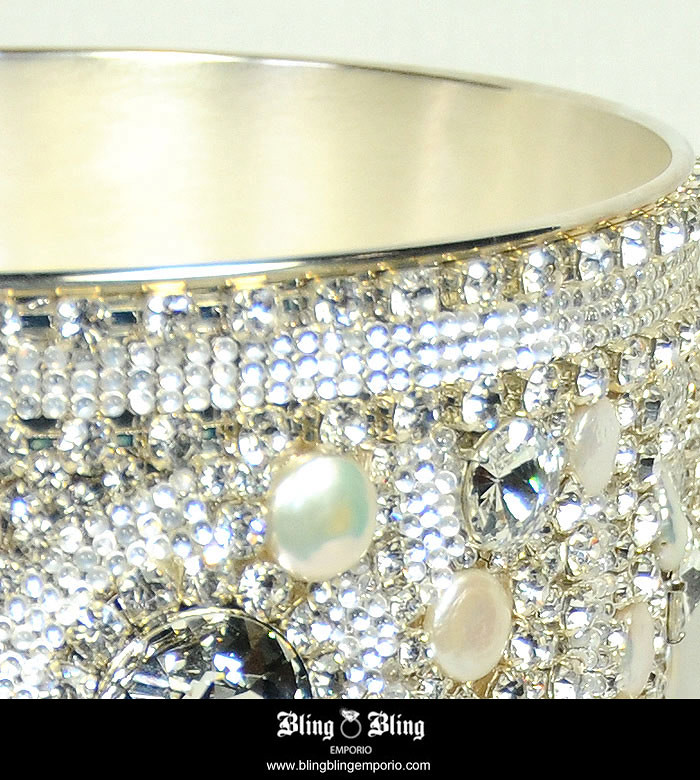 Swarovski crystal home decor champagne bucket this for Swarovski decoration crystals
