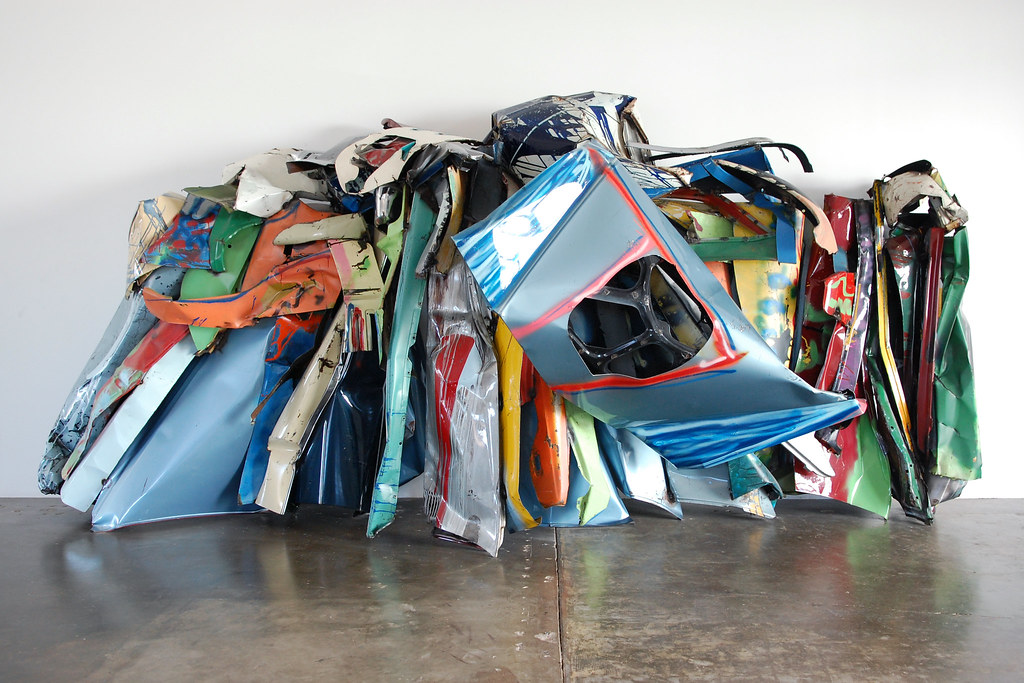 cc Flickr Daniel photostream John Chamberlain, Various Works, 1972-1983
