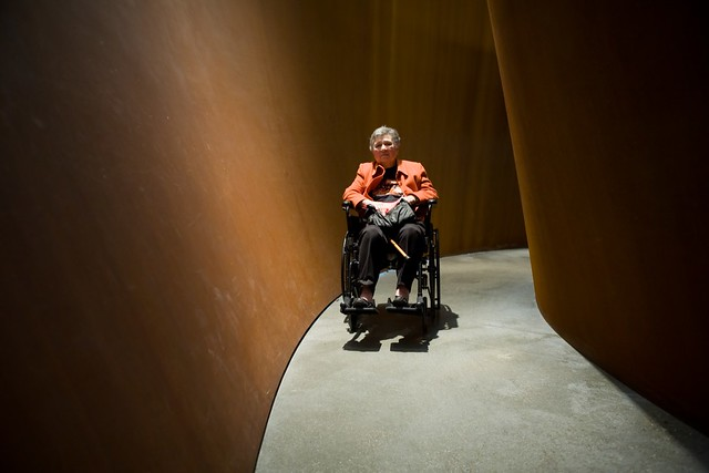 My mother inside a Richard Serra