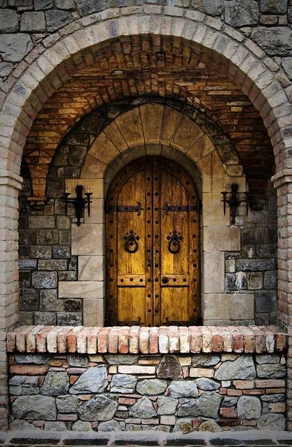 Castle door cins city flickr for Beautiful wooden doors picture collection