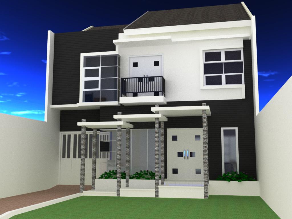 rumah dengan fasad minimalis dan elegan 1 this photo