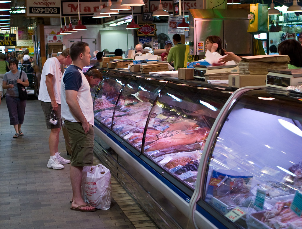 Eat fish live longer reading terminal market philly pa for Fish market philadelphia