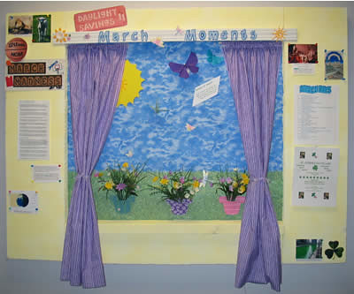 Bluebird Meadow Bulletin Board | This bulletin board is used ...
