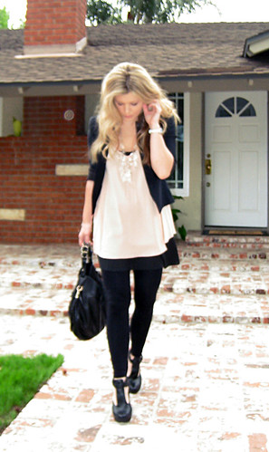 what I wore+Miguelina silk crepe top+Prada Chandelier Necklace diy -2 | by ...love Maegan