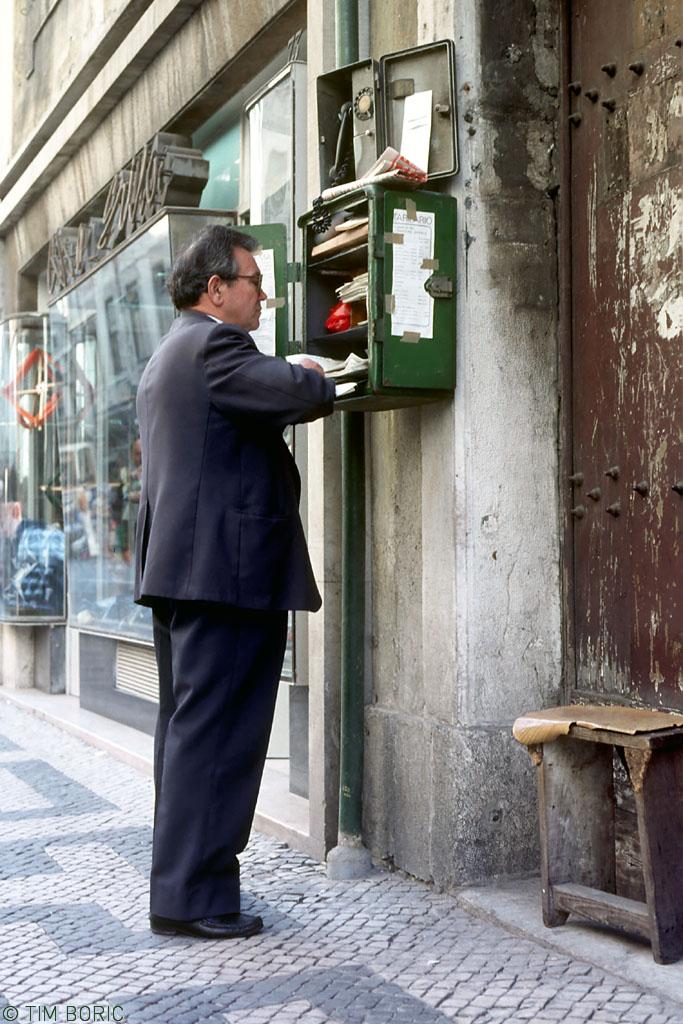 Chefe dos eléctricos, Rua da Conceição (Tim Boric, 1980)