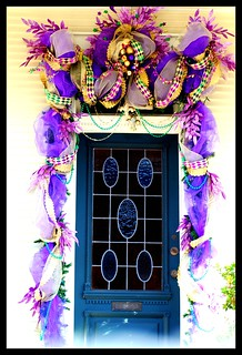New Orleans - Mardi Gras Door Decoration | by shawnmebo