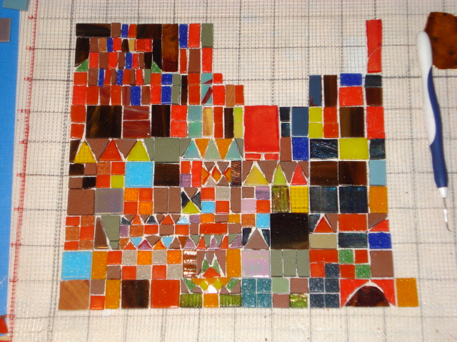 Reproduction Of Paul Klee S Castle And Sun In Mosaic Wip