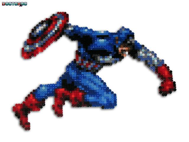 captain america bead sprite a custom bead sprite of