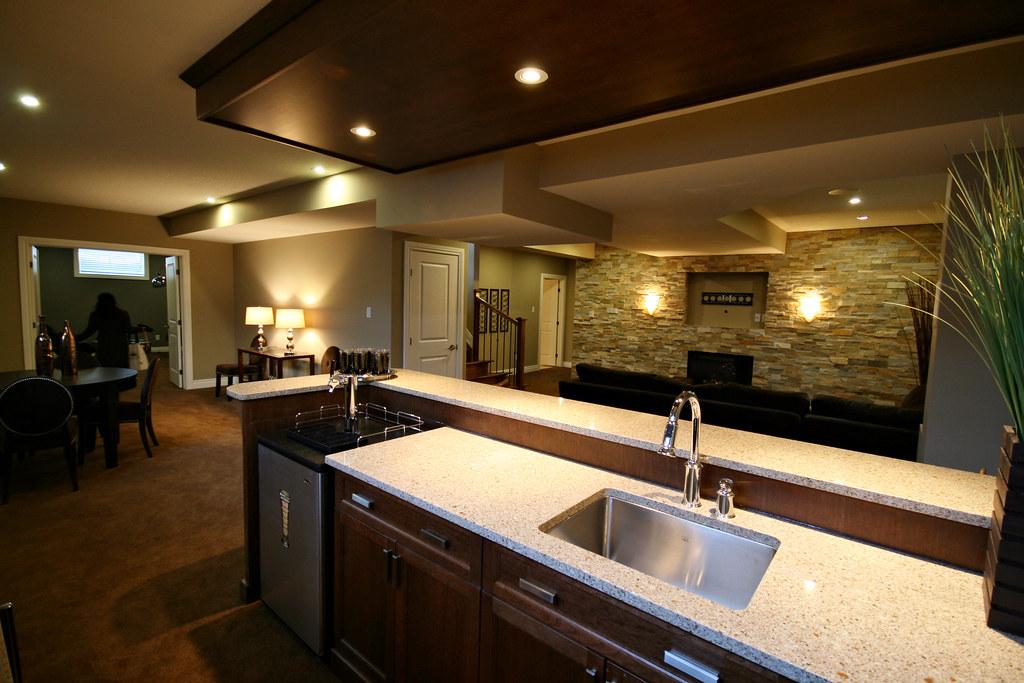 Basement Bar With Kitchen Cabinets