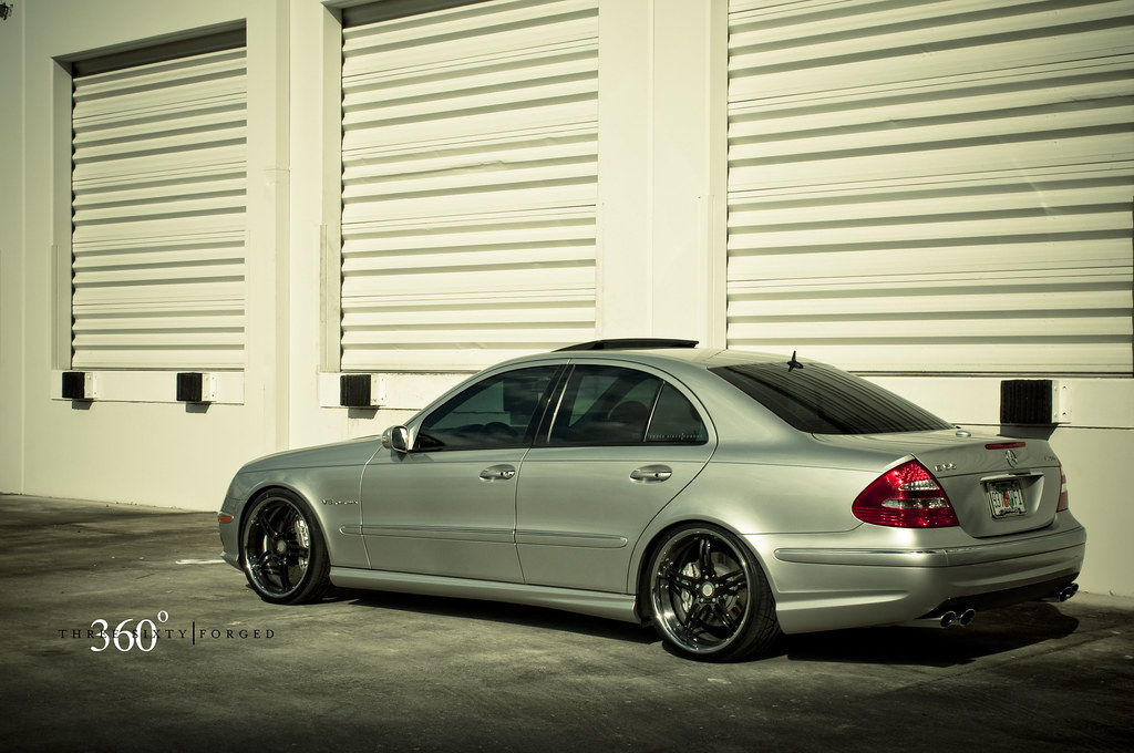 Mercedes E55 AMG on 360 Forged CF 5ive | 360 Forged | Flickr