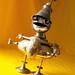 robot assemblage sculpture * COMMANDER CUPCAKE - The Costume Kid Steampunk Robot