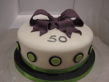 Purple Green And Black Birthday Cake Lemon Sponge