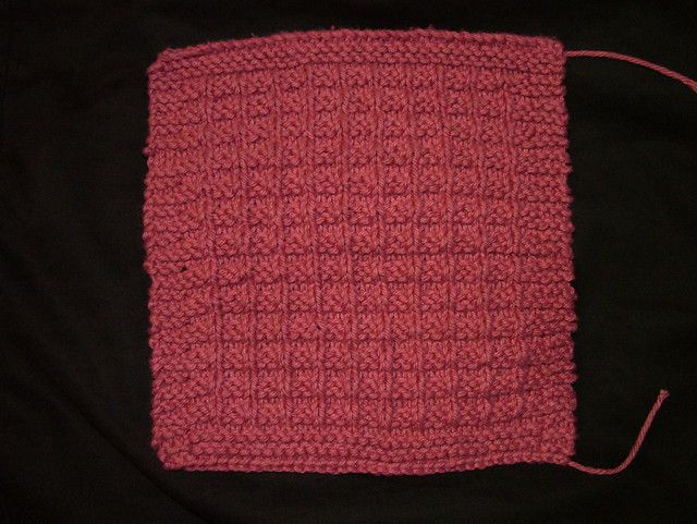 Waffle Knitting Pattern Dishcloth : Waffle Knit Dishcloth (pattern) Flickr - Photo Sharing!
