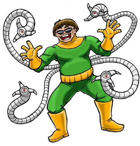 doc oct in spiderman the musical now in color larry clip art octopus free clipart octopus black and white