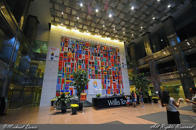 Willis Tower Sears Tower The Franklin Street Lobby Of