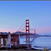 Pastel Pink & Blue Skies Behind Golden Gate Bridge, San Francisco, California - IMRAN™ — 1850+ Views!