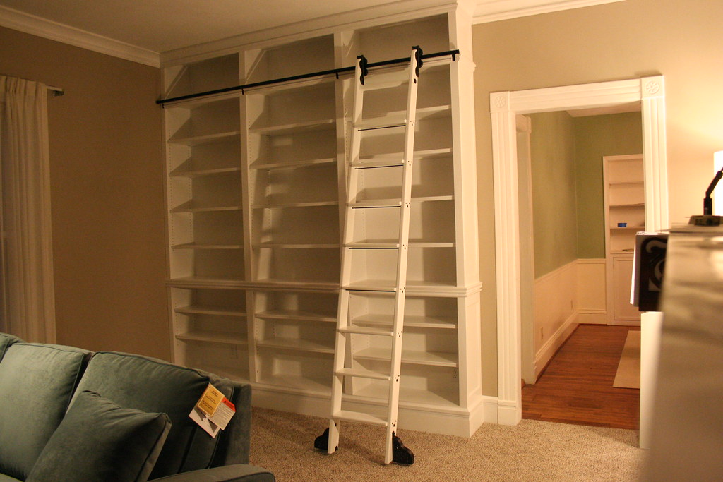 Custom Bookcases With Ladder Yes We Still Have Tags On