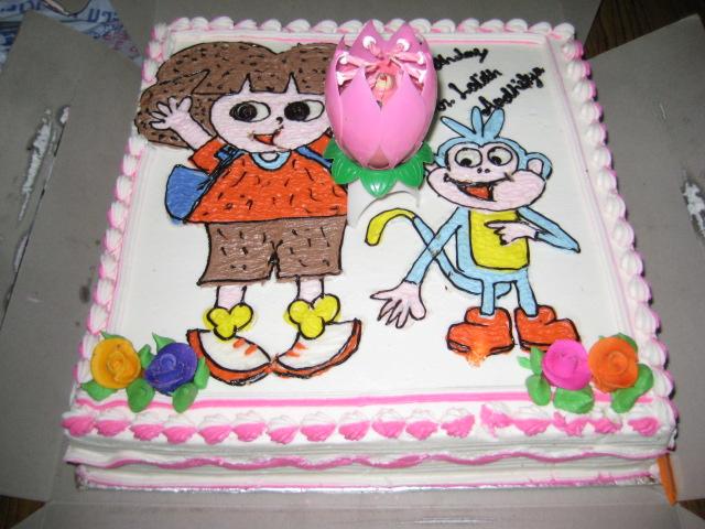Dora Cake Recipe In English: Dora Bujji Cake