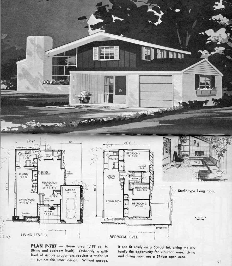 Split level plan p 707 from hayden homes little for The new encyclopedia of home designs