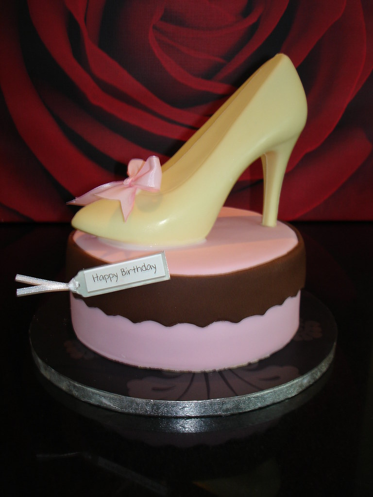 Chocolate Shoe Birthday Cake Vanilla With Raspberry