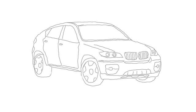 Bmw X6 Skizze Mein Kleiner Zeichenversuch Mit Autodesk