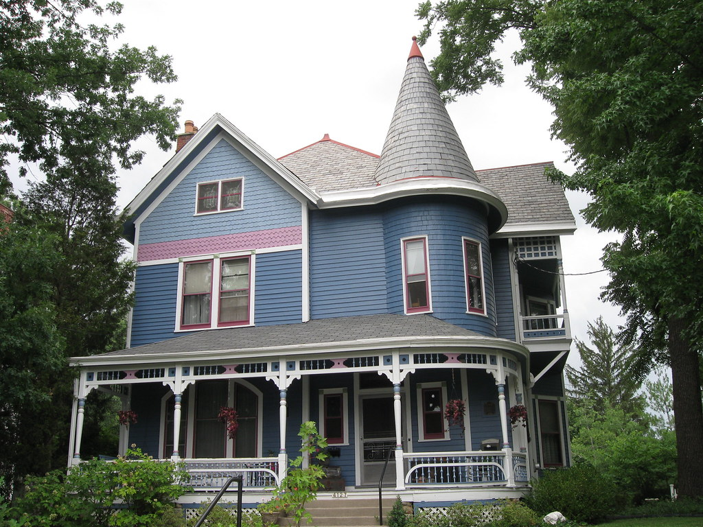 Queen anne house norwood ohio lovely blue victorian Queen anne house