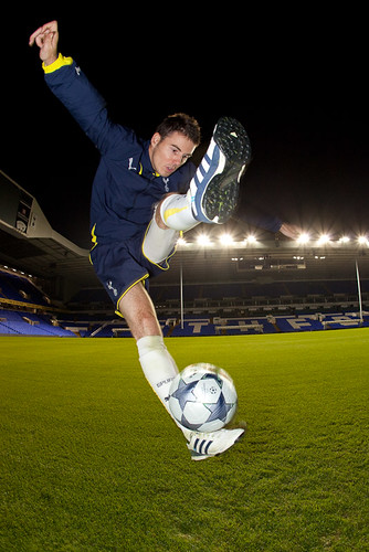 Billy Wingrove At White Hart Lane Spurs Kit Launch 2009