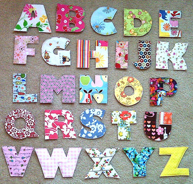 fabric alphabet learning set by kindershop