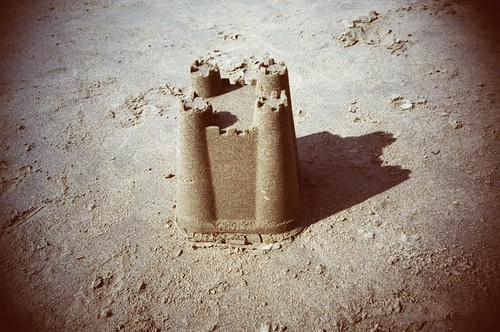 A sandcastle, circa 1972 | by si_griffiths