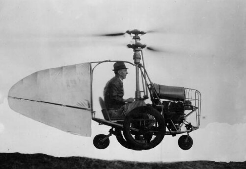 Jess Dixon in his flying automobile | by State Library and Archives of Florida