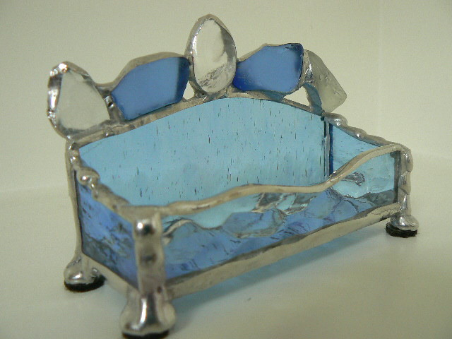 Stained Glass And Sea Glass Business Card Holder Beautiful Flickr
