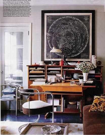 Living Room Study: Thomas O'Brien {eclectic Vintage /art Deco / Mid-century S