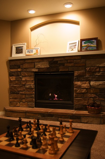 White Electric Fireplace With Mantle