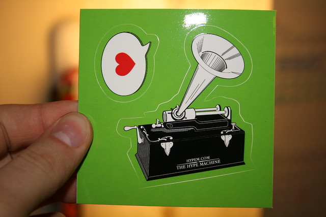 hype machine stickers flickr photo sharing