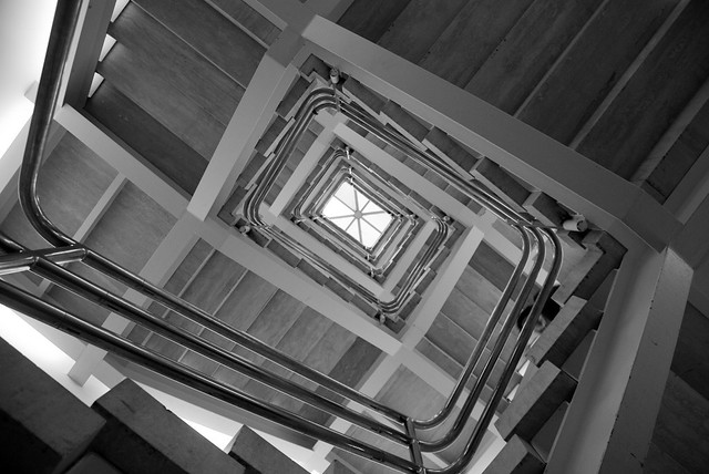 Square Spiral Staircase At The Art Museum Metropolitan
