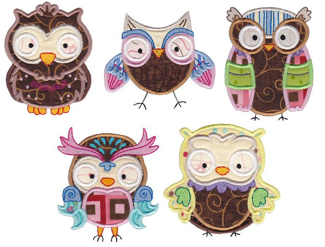 Owl Set At Bunnycup Embroidery Machine Embroidery Designs Flickr