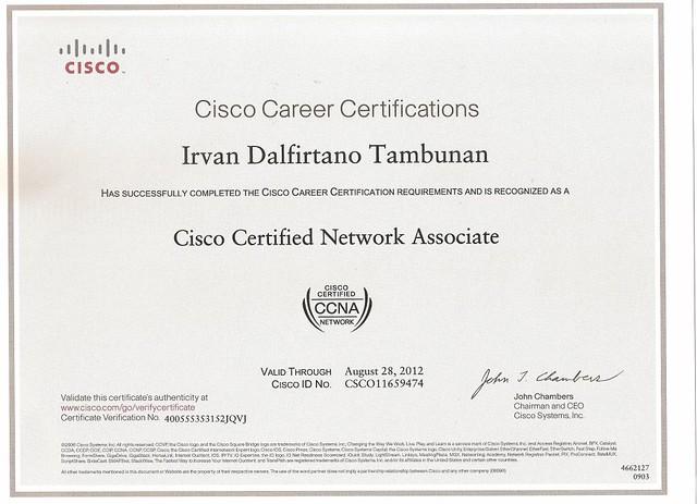 CCNA Certificate   Irvan Tambunan   Flickr