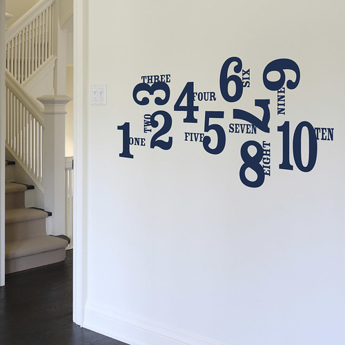 1,2,3,4 - VInyl Decal | by tastysuite