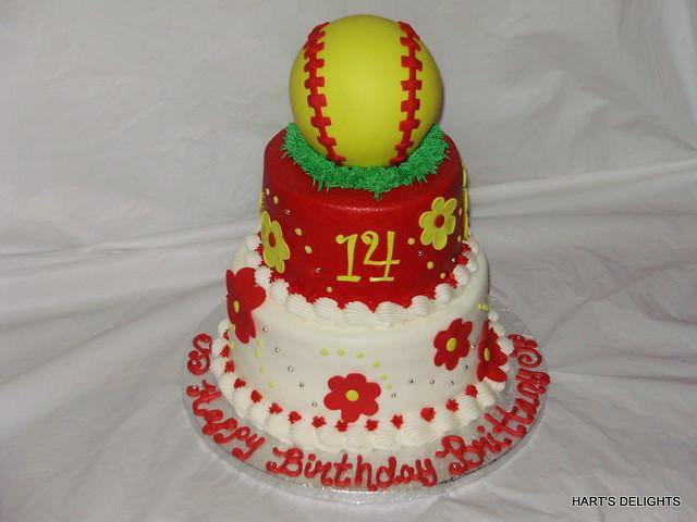 Strange Girls Softball Birthday Cake Debbie Flickr Personalised Birthday Cards Paralily Jamesorg