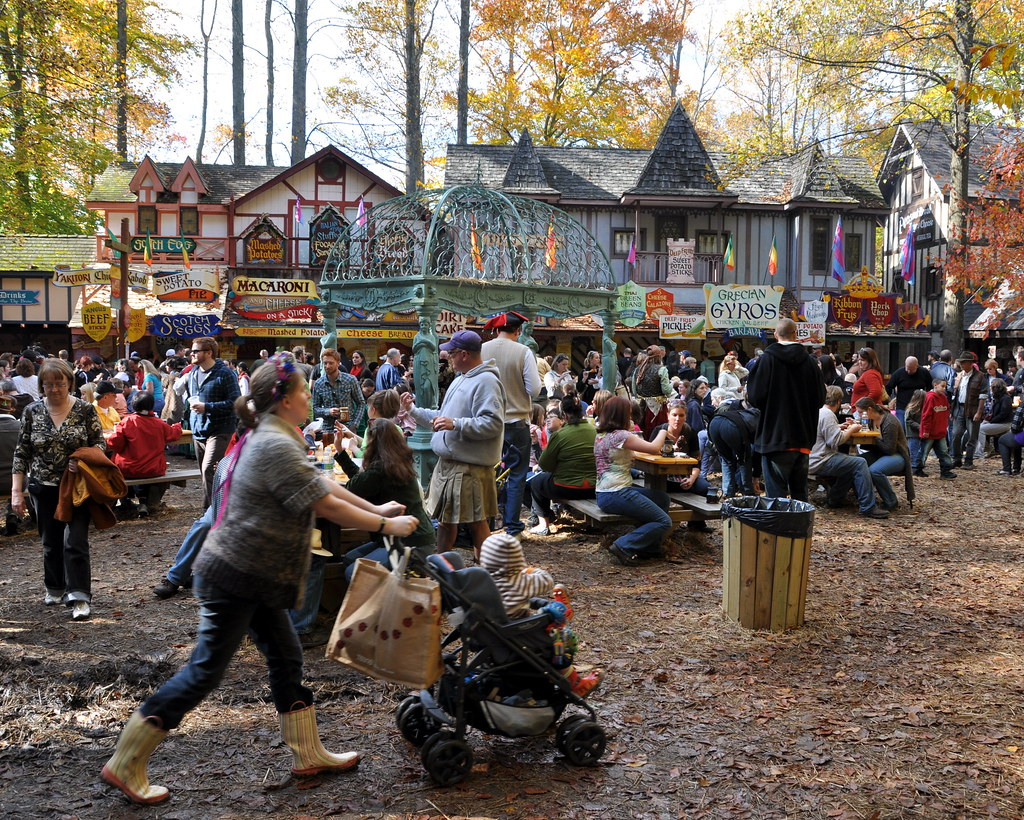 Renaissance Festival Food Court  The Final Day Of The