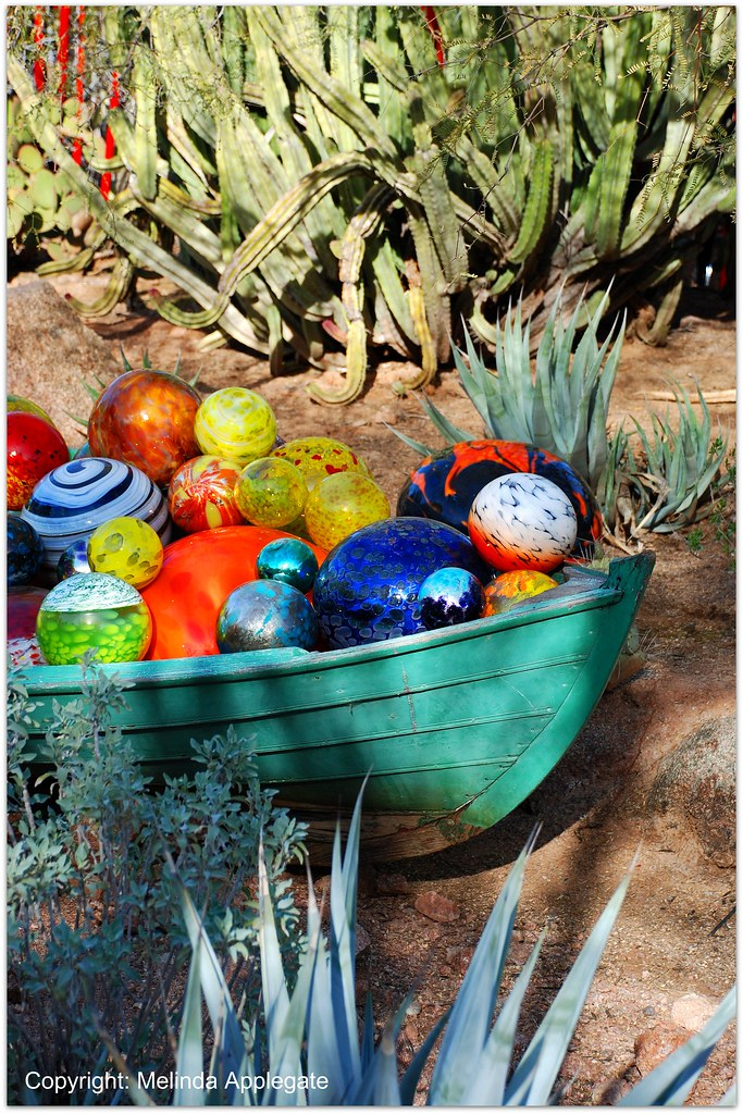 Chihuly Glass Art On Display At The Desert Botanical Garde Flickr